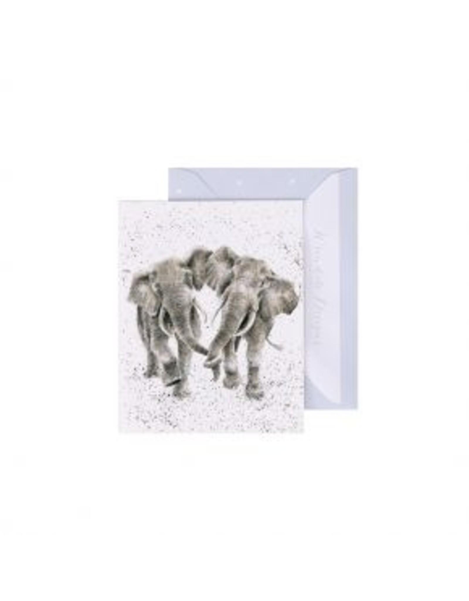 Wrendale Designs Mini-Carte - Éléphanesque