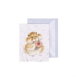 Wrendale Designs Mini-Carte - Hamster Gourmand