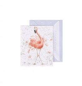 Wrendale Designs Mini-Carte - Flamant Belle en rose