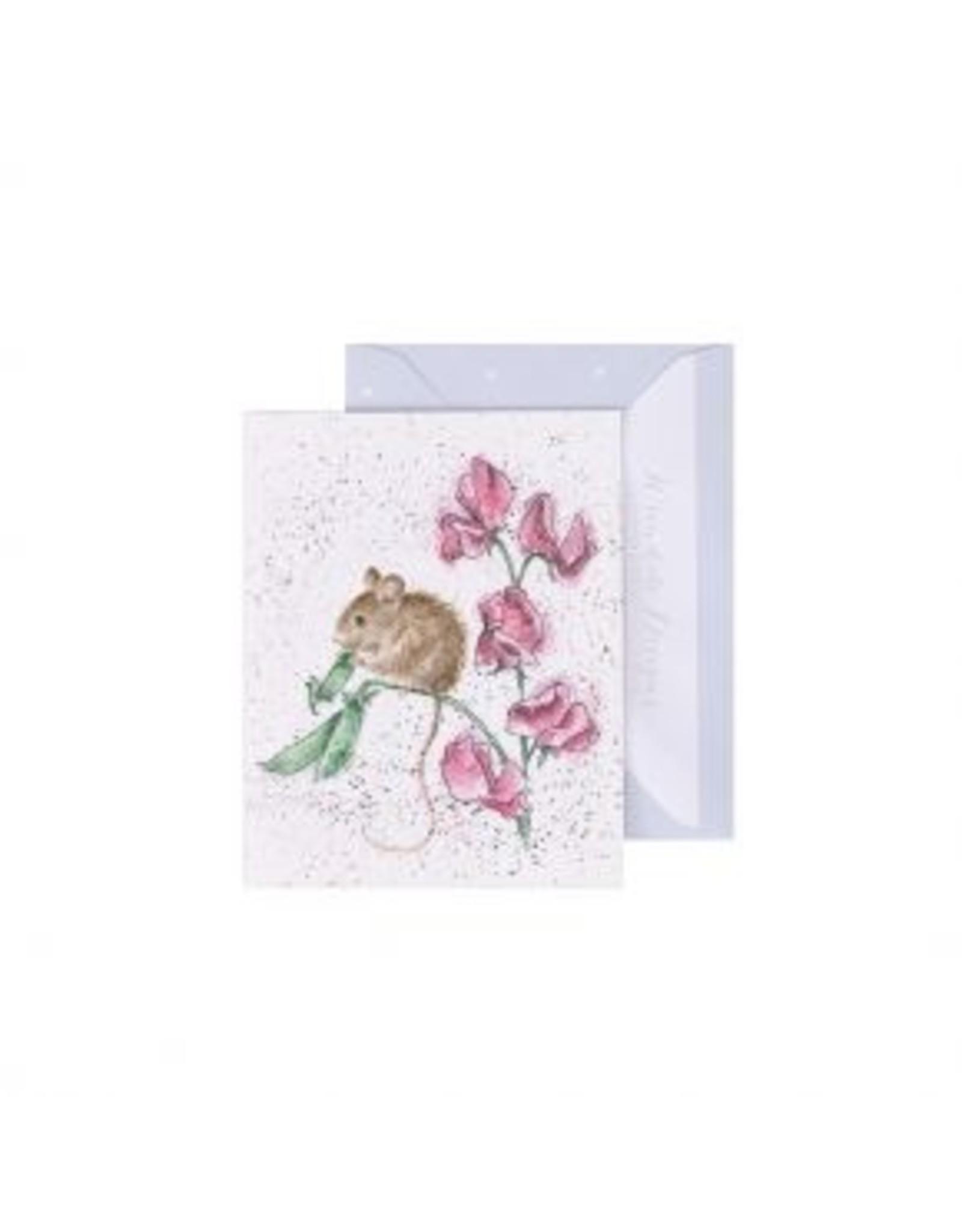 Wrendale Designs Miniature Card -  The Pea Thief