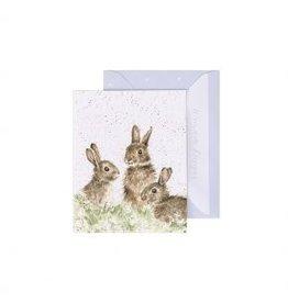 Wrendale Designs Mini-Carte - Lapins  libres