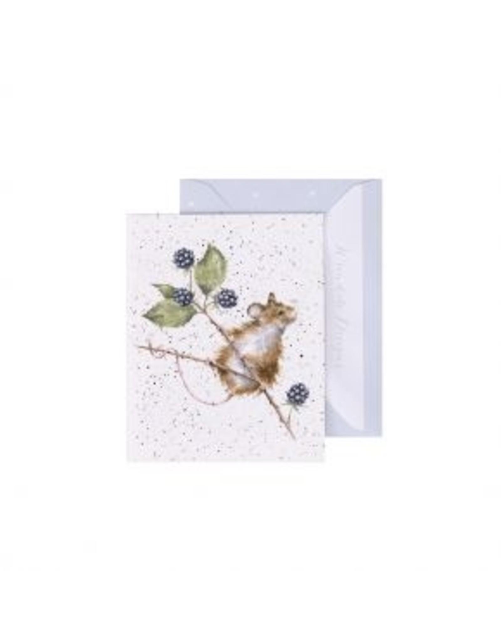 Wrendale Designs Mini-Carte - Souris et le Ronce
