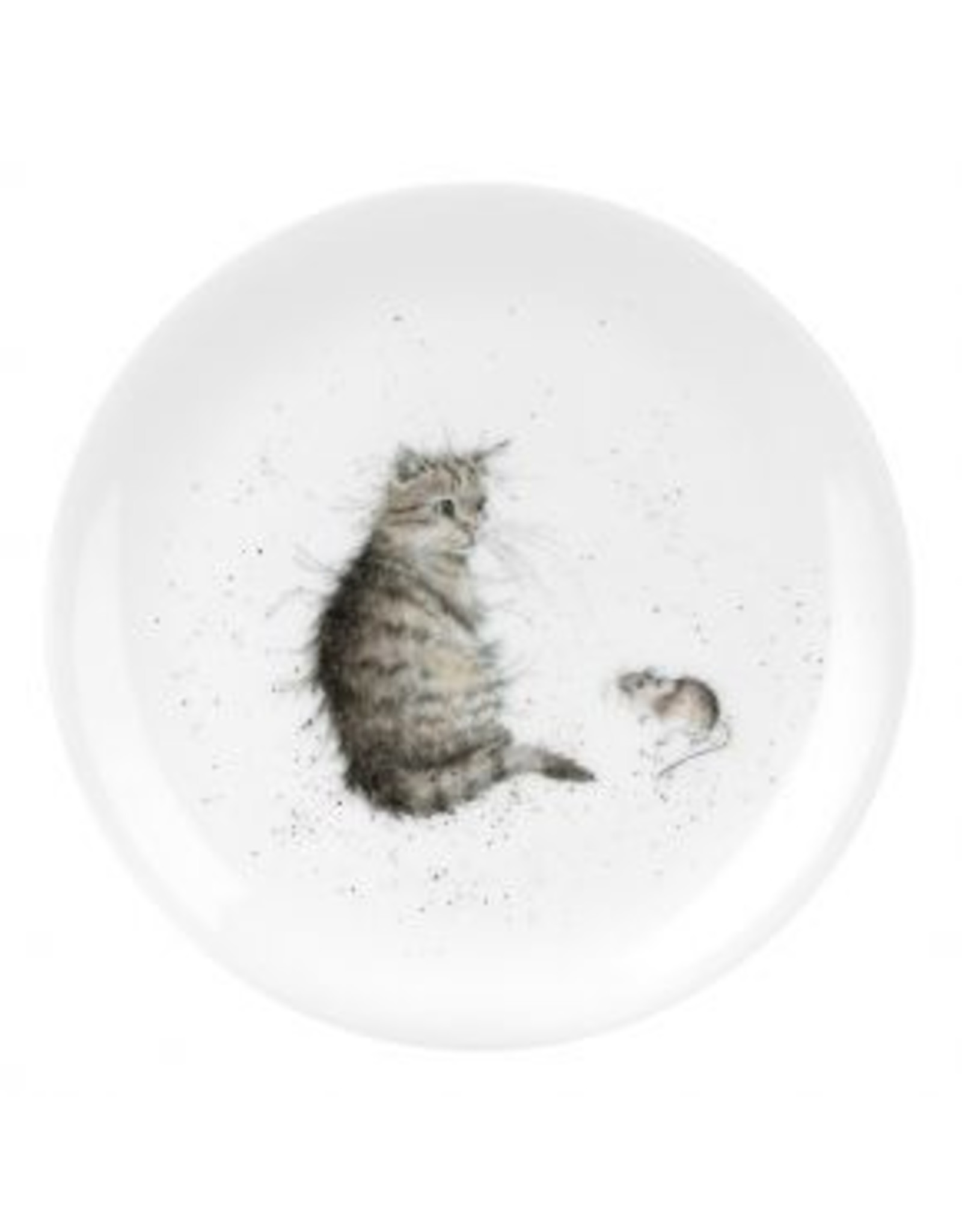 """Wrendale Designs Plate 8"""" - Cat and Mouse"""