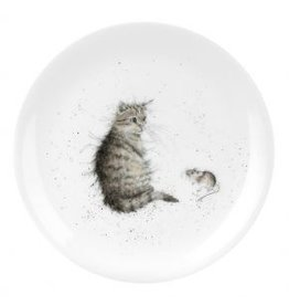 "Wrendale Designs Plate 8"" - Cat and Mouse"