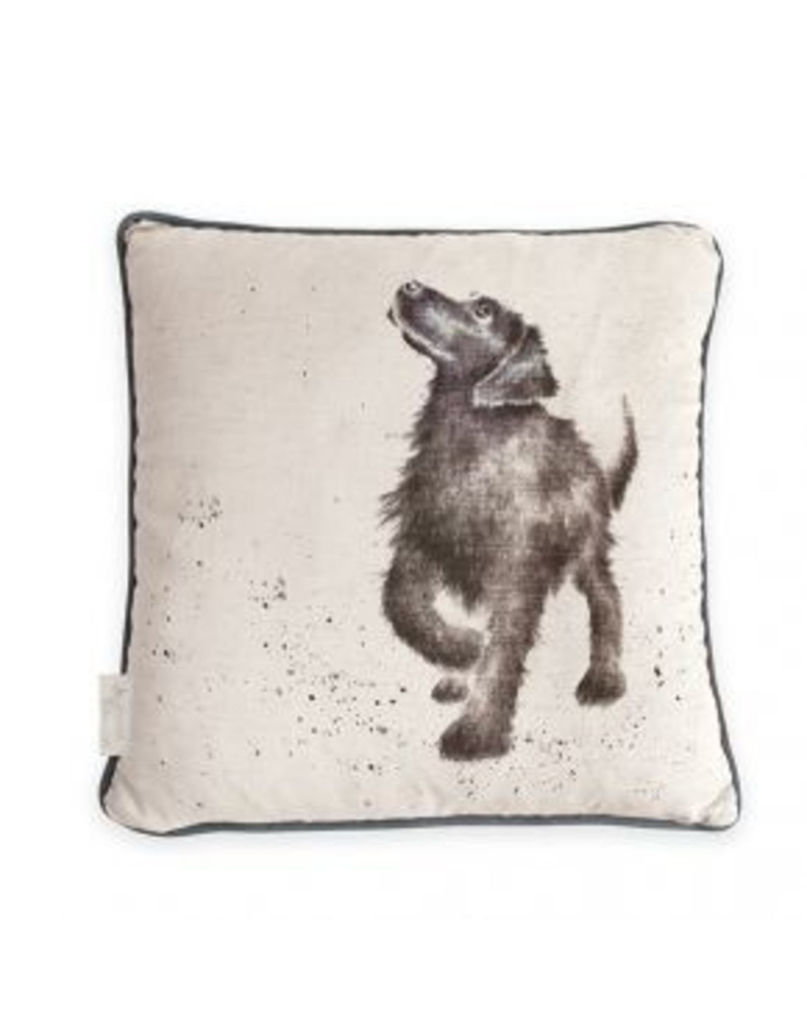 Wrendale Designs Cushion - Walkies Dog