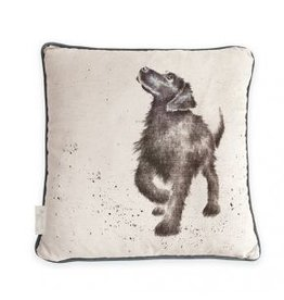 Wrendale Designs Cushion - Walkies Dog