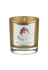 Wrendale Designs Glass Candle -  Holly Ivy and Misletoe