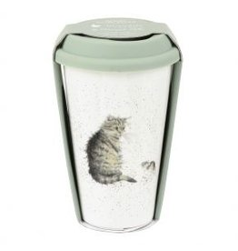 Wrendale Designs Travel Mug 11 oz  -  Cat and Mouse