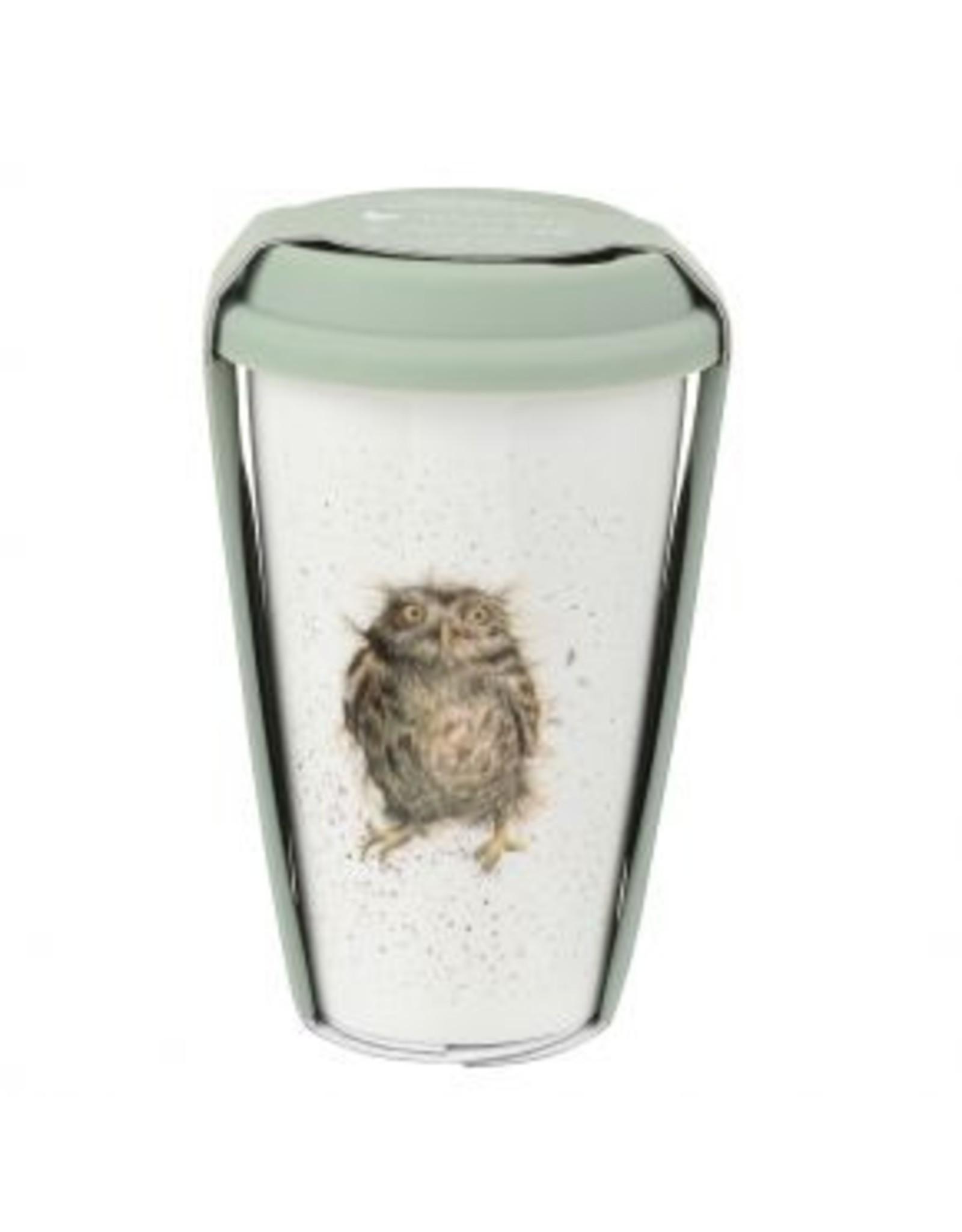 Wrendale Designs Travel Mug 11 oz  - What a Hoot
