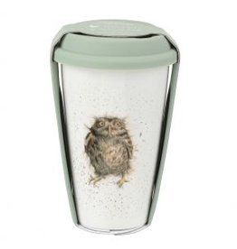 Wrendale Designs Travel Mug 11 oz  - What a Hoot