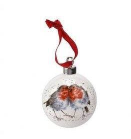Wrendale Designs Décoration - 2.75'' Boule de Noël Rouge Gorge