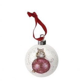 "Wrendale Designs Christmas baulbe 2.75"" - Mouse"