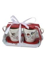 Wrendale Designs  Mug & Coaster set - Family Christmas