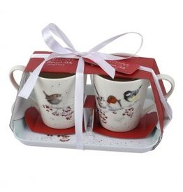 Wrendale Designs Mug & Coaster set - Family Christmas