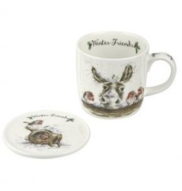 Wrendale Designs Mug & Coaster set - Winter Friends