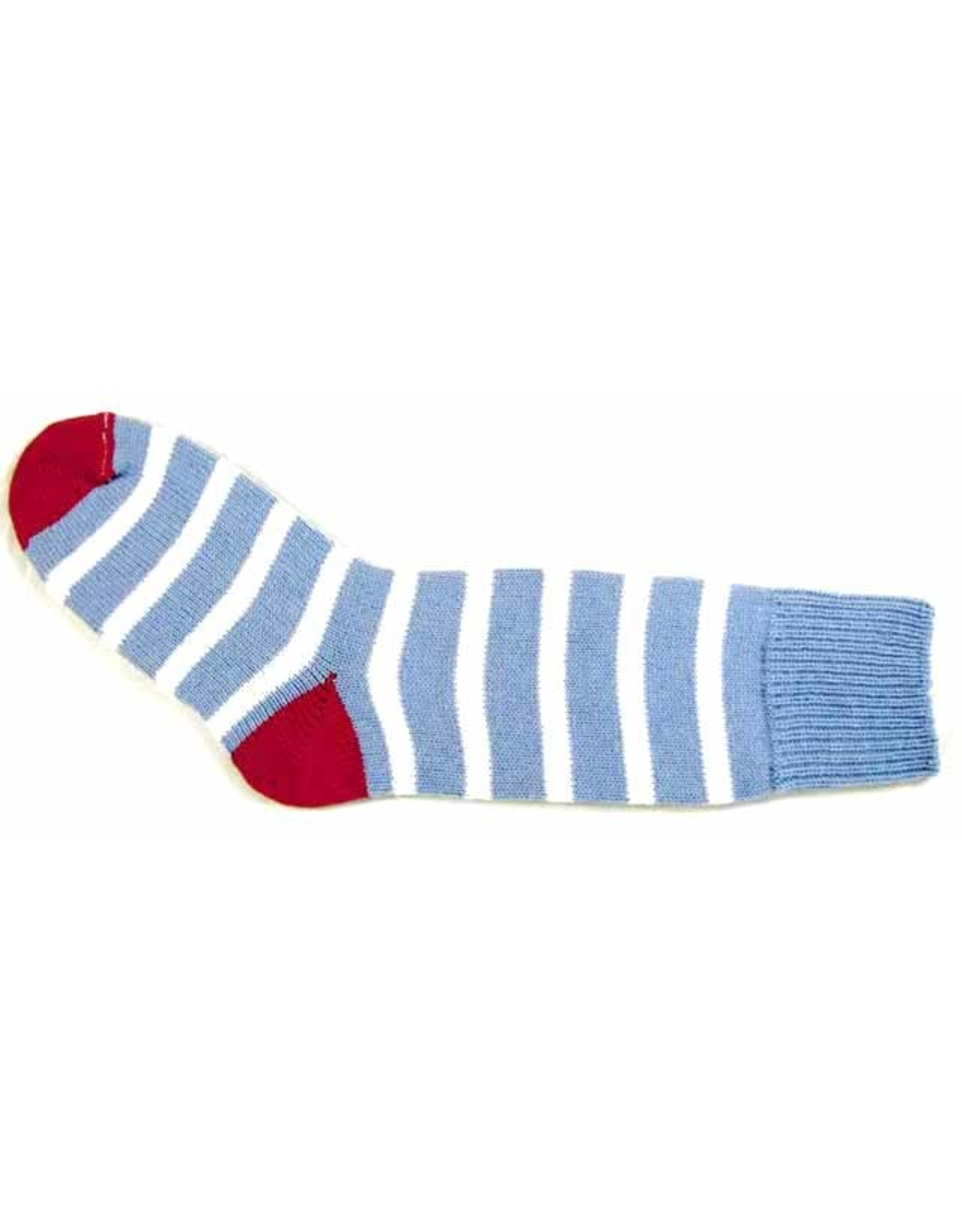 Bas de laine & mot coquin - Socks The Thinker (Blue/White and Pink)