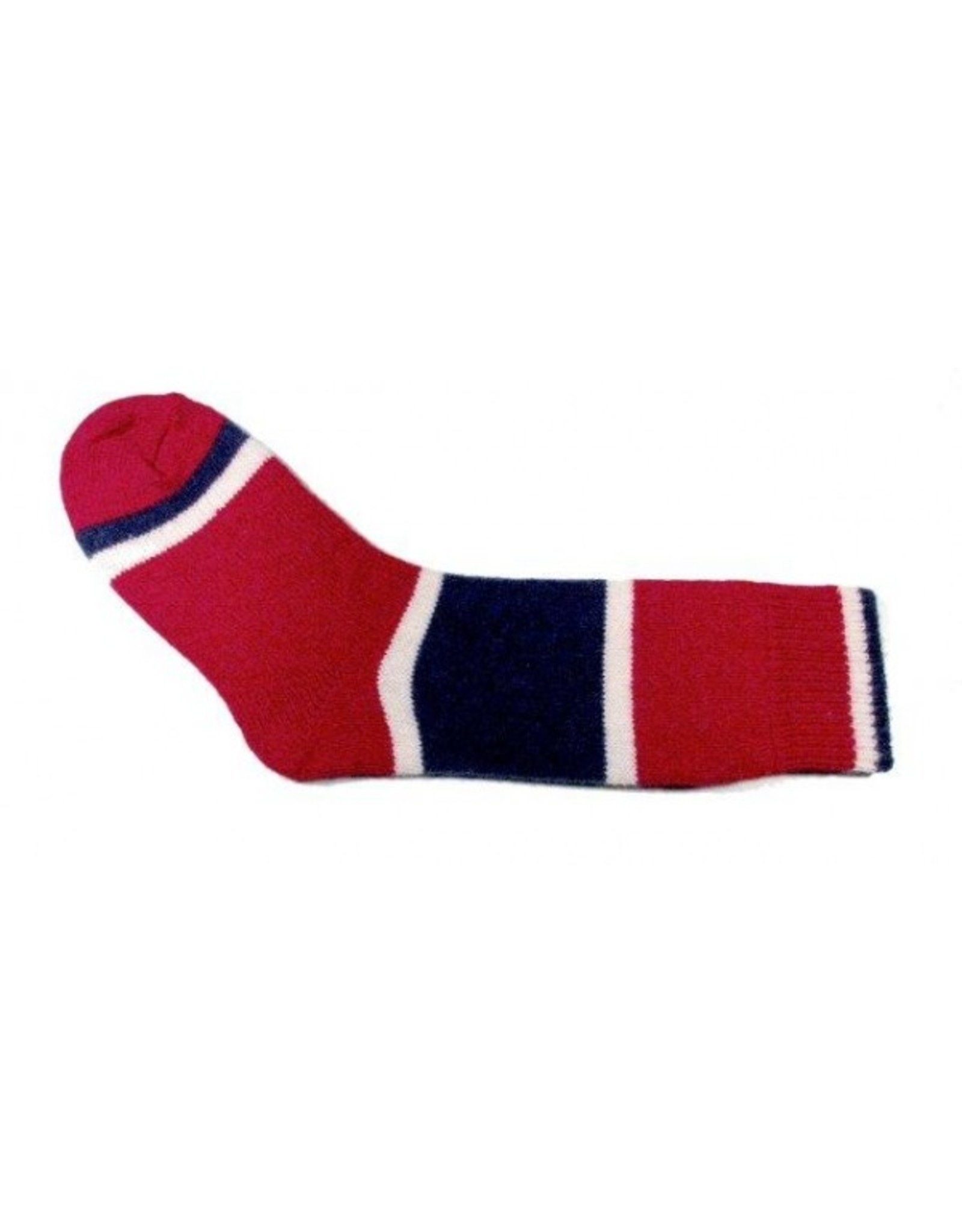 Bas de laine & mot coquin - Socks The Hockey (Red/Blue and White)