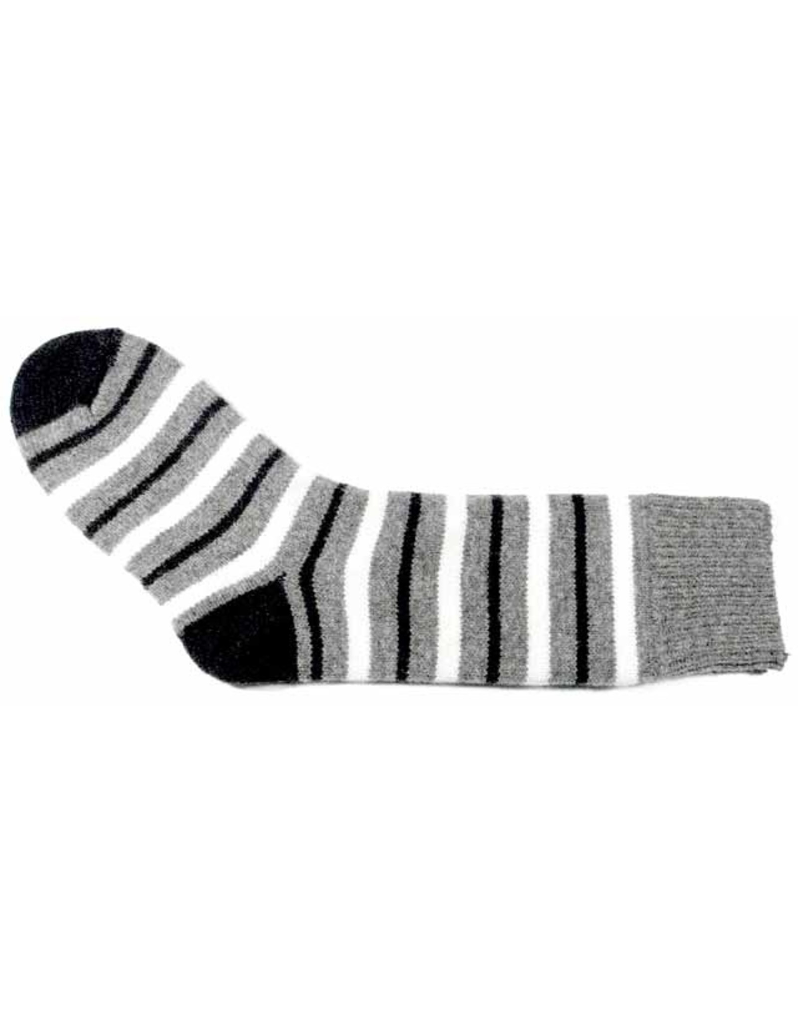 Bas de laine & mot coquin - Socks The Intellingent (Grey/Blue and White)
