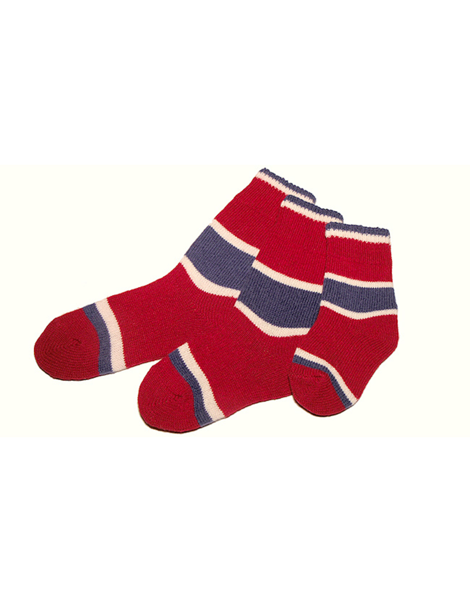 Bas de laine & mot coquin - Kids The Hockey (Red/Blue and White)