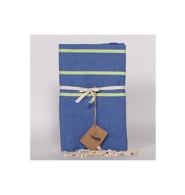 Famille Nomade Fouta - Flatweave - L -Blue/Green