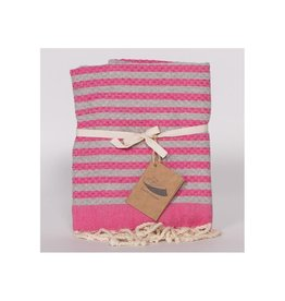 Famille Nomade Fouta - Honeycomb - S - Wihakayda (Pink/Grey)