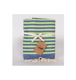 Famille Nomade Fouta - Honeycomb - S - Yahto (Blue/Green)