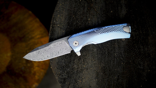 LionSteel LionSteel ROK Damascus Blue