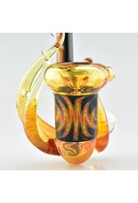 fire and black sherlock with yellow dicro marble and 3 horns