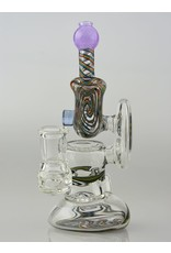 Borosyndicate Clear and Worked Rig With Sherlock Pipe Mouth Piece Denvir