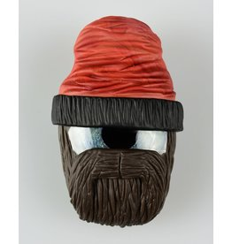 Junkie Glass Beanie Eyeball pendant Frizzly Beard Rust Beanie With Space Iris