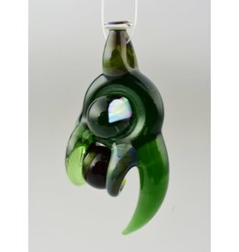 Doshworld Doshworld Alien Tech Claw Spinning Green Marble Pendant With Opal