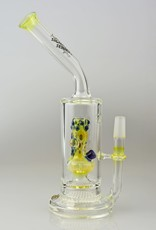 jerome baker Signature Series Waterpipe With Honeycomb Disc Perc And Mini Waterpipe Inside By Jerome Baker