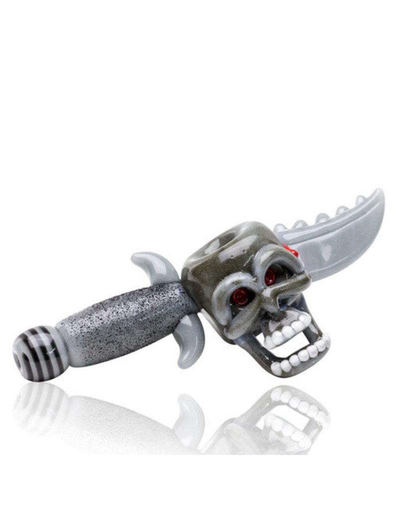 Empire Glass Daggered Skull Dry Hand Pipe
