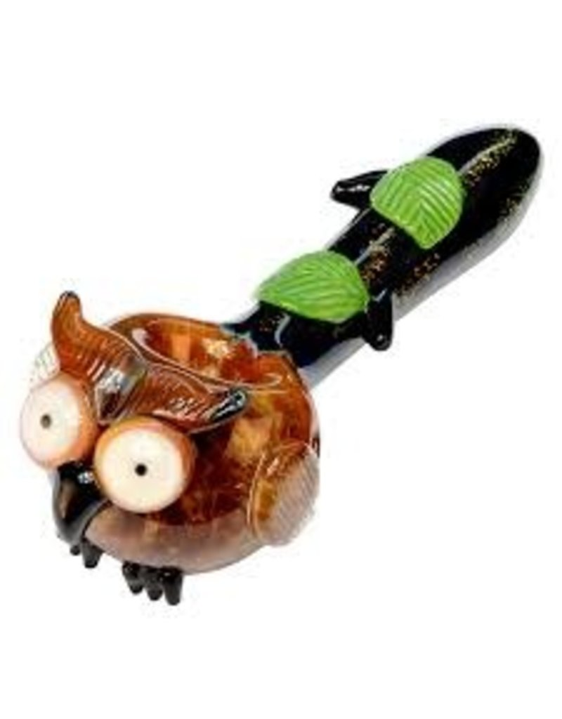 Empire Glass Small Owl Spoon Hand Pipe