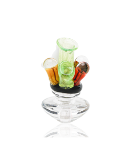 Empire Glass Coral Reef Peak Carb Cap