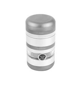 Kannastor Kannastör® GR8TR® V2 Series Jar Grinder Screen Chamber and Stainless Easy Change Screen™ Matte Silver