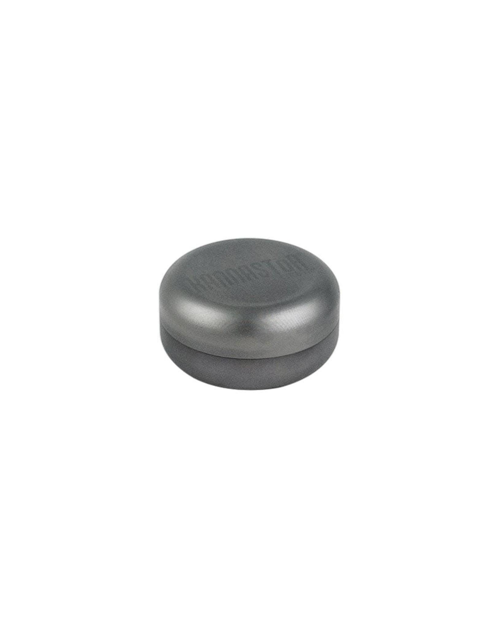 Kannastor Kannastör® GR8TR® V2 Series Jar Grinder Screen Chamber and Stainless Easy Change Screen™ Matte Silver