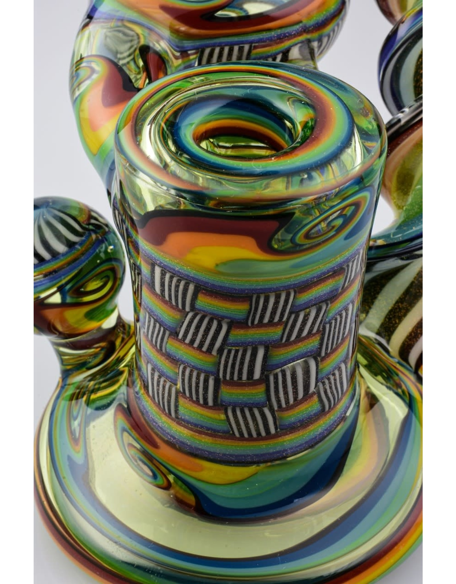 Jeff Green Jeff Green Mini Recycler With Spiral Cane 14mm