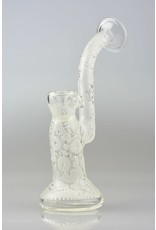 Liberty glass Liberty Glass Clear Sand Blasted Gear Push Bowl Bubbler