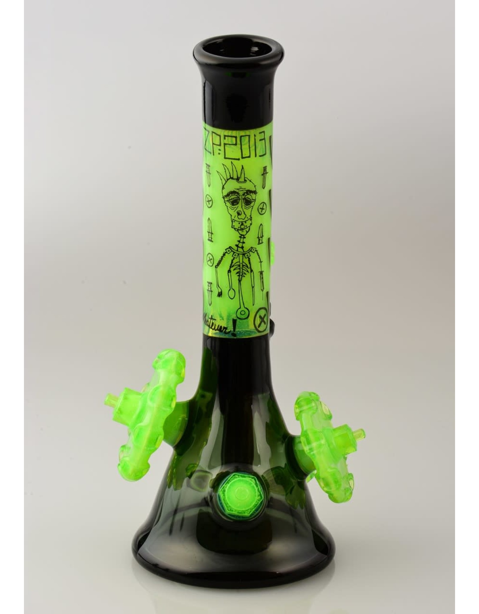 Zach P And Ouchkick Studios Zach P Slime And Black Sketch and Gear Beaker