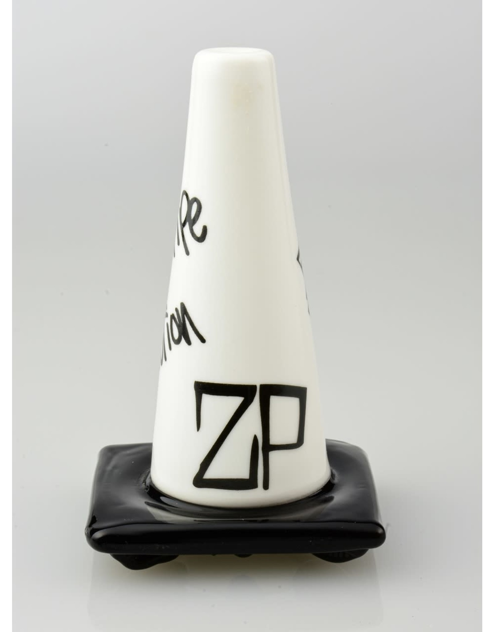 Lord Glass Pipe Revolution Lord x Zach P Collab White Sketch Construction Cone Pipe