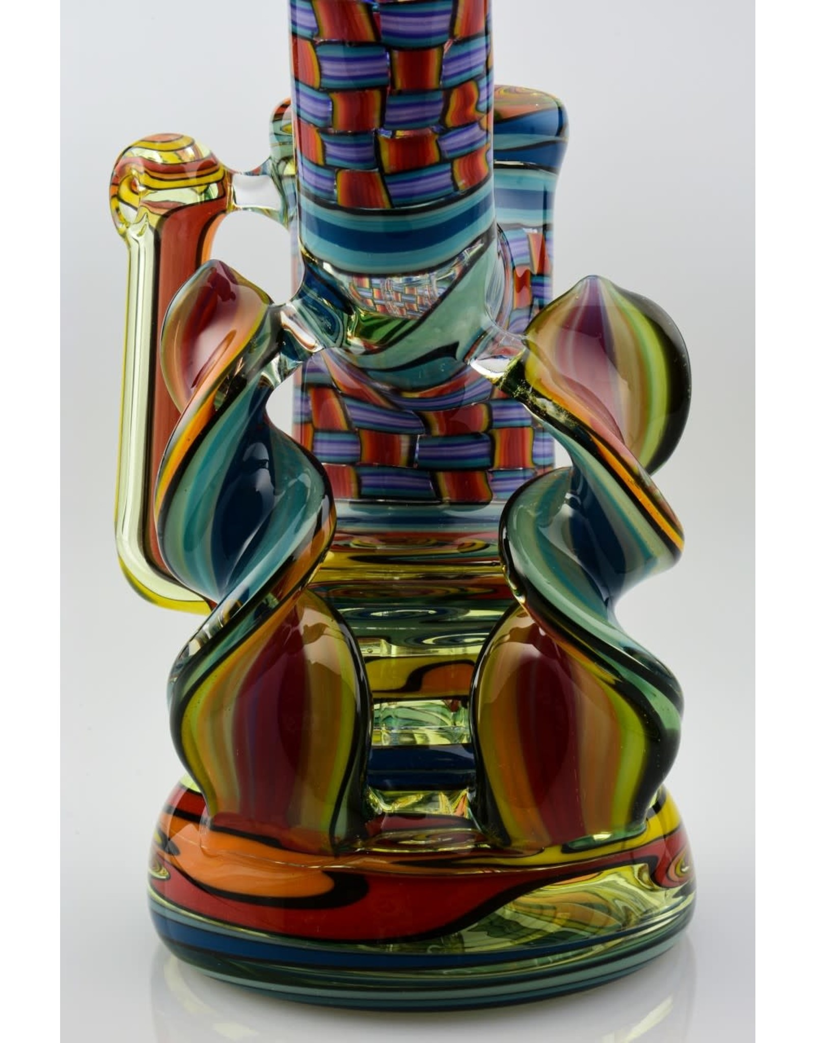 Jeff Green Jeff Green Bubbler With Flat Spiral Cane And Scuba Carb