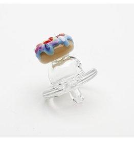 Empire Glass Blue Donut Carb Cap