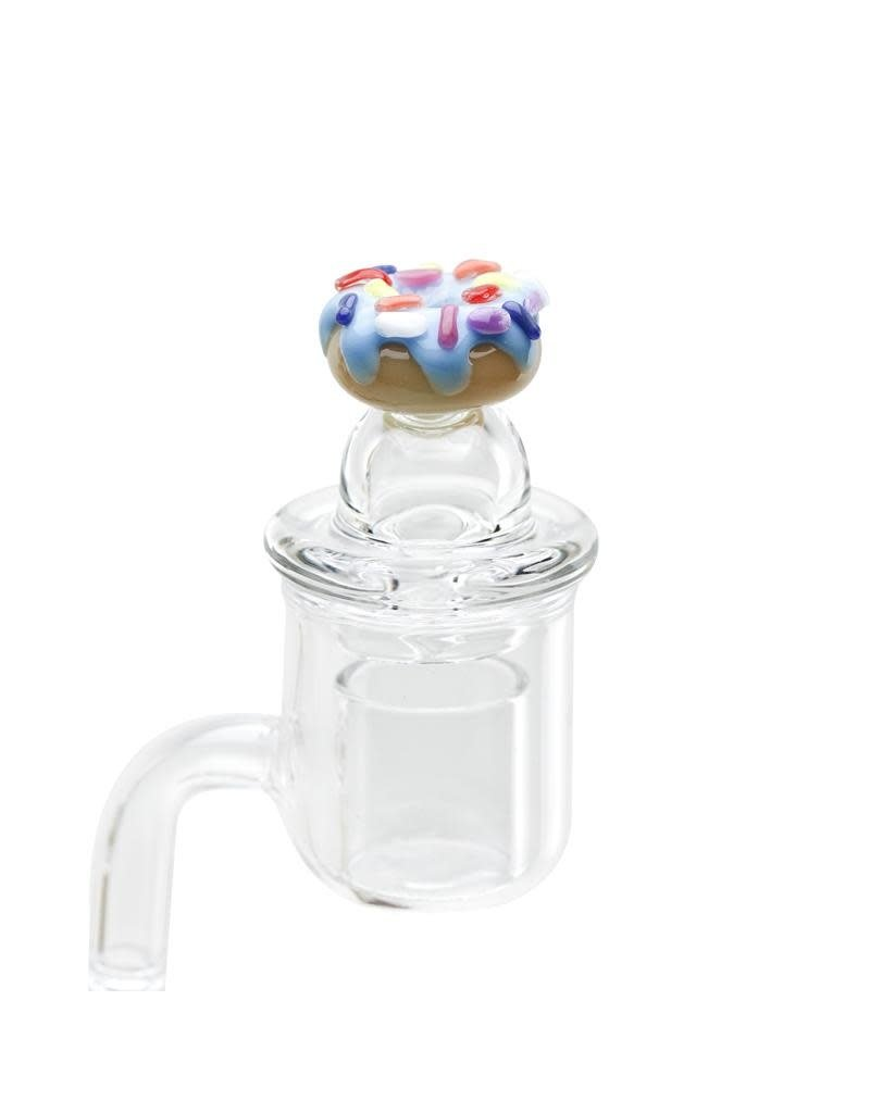 Empire Glass Blue Donut Carb Cap