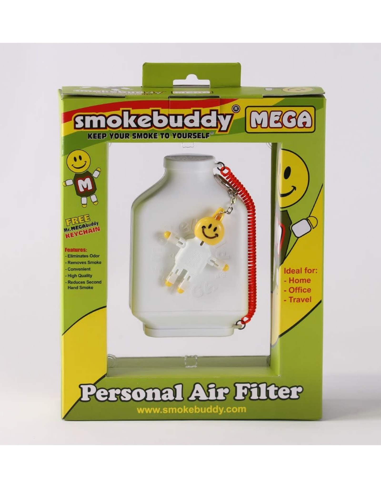 smoke buddy White Smokebuddy MEGA Personal Air Filter