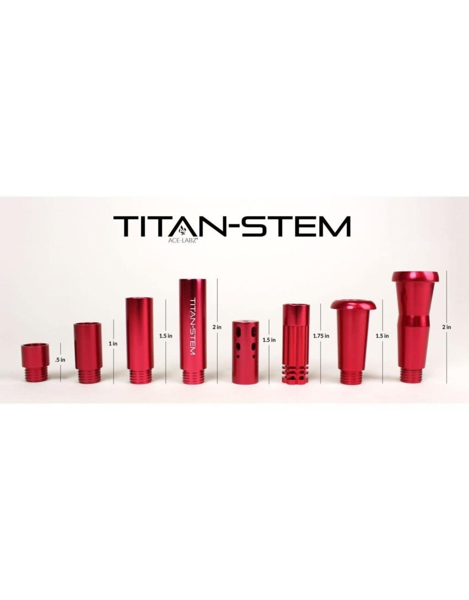 ace-labz Titan-Stem 3.0 Aluminum Metal Adjustable Length Downstem Red