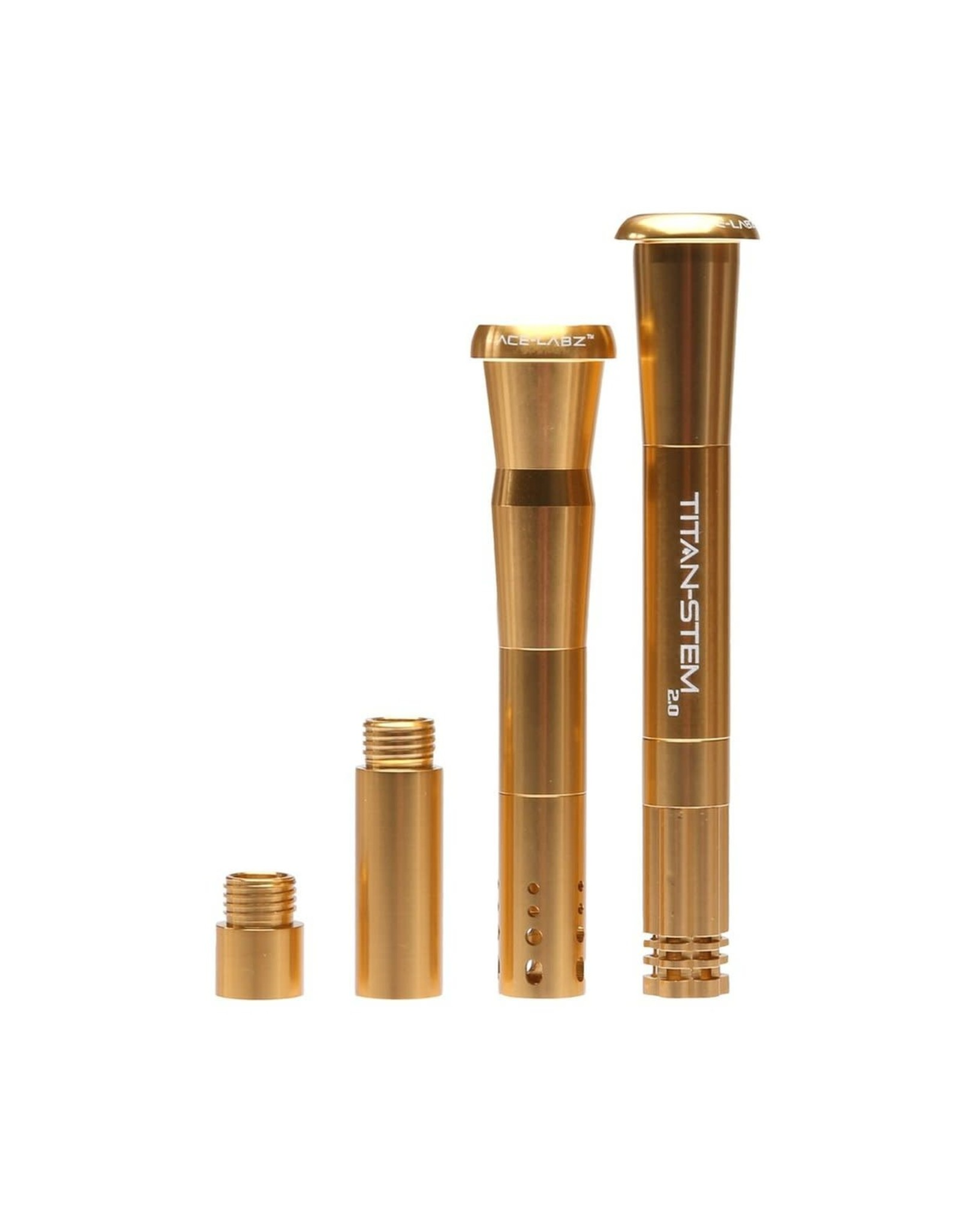 ace-labz Titan-Stem 3.0 Aluminum Metal Adjustable Length Downstem Gold