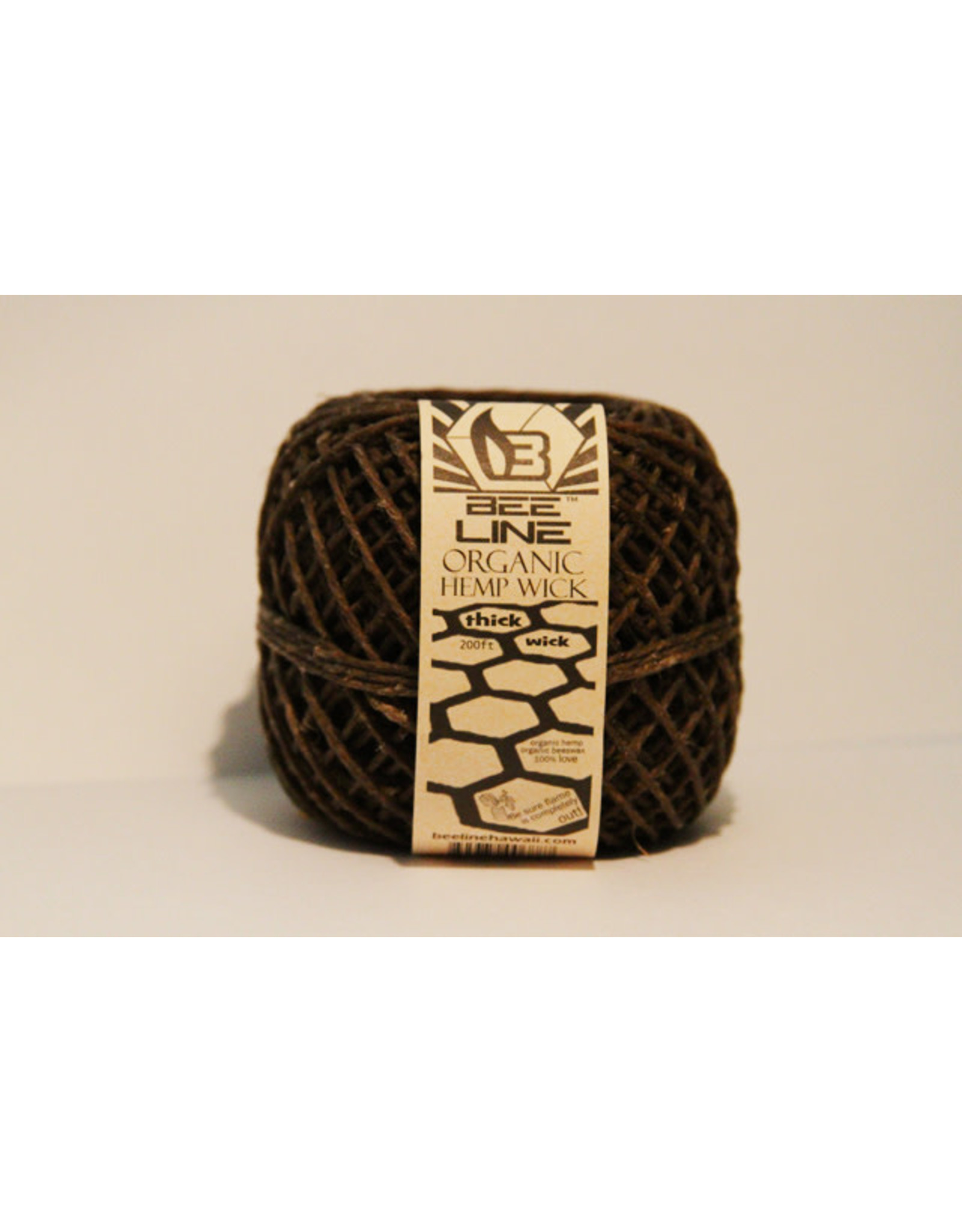 bee line Beeline Hemp Wick Ball Thick Roll 200 Feet