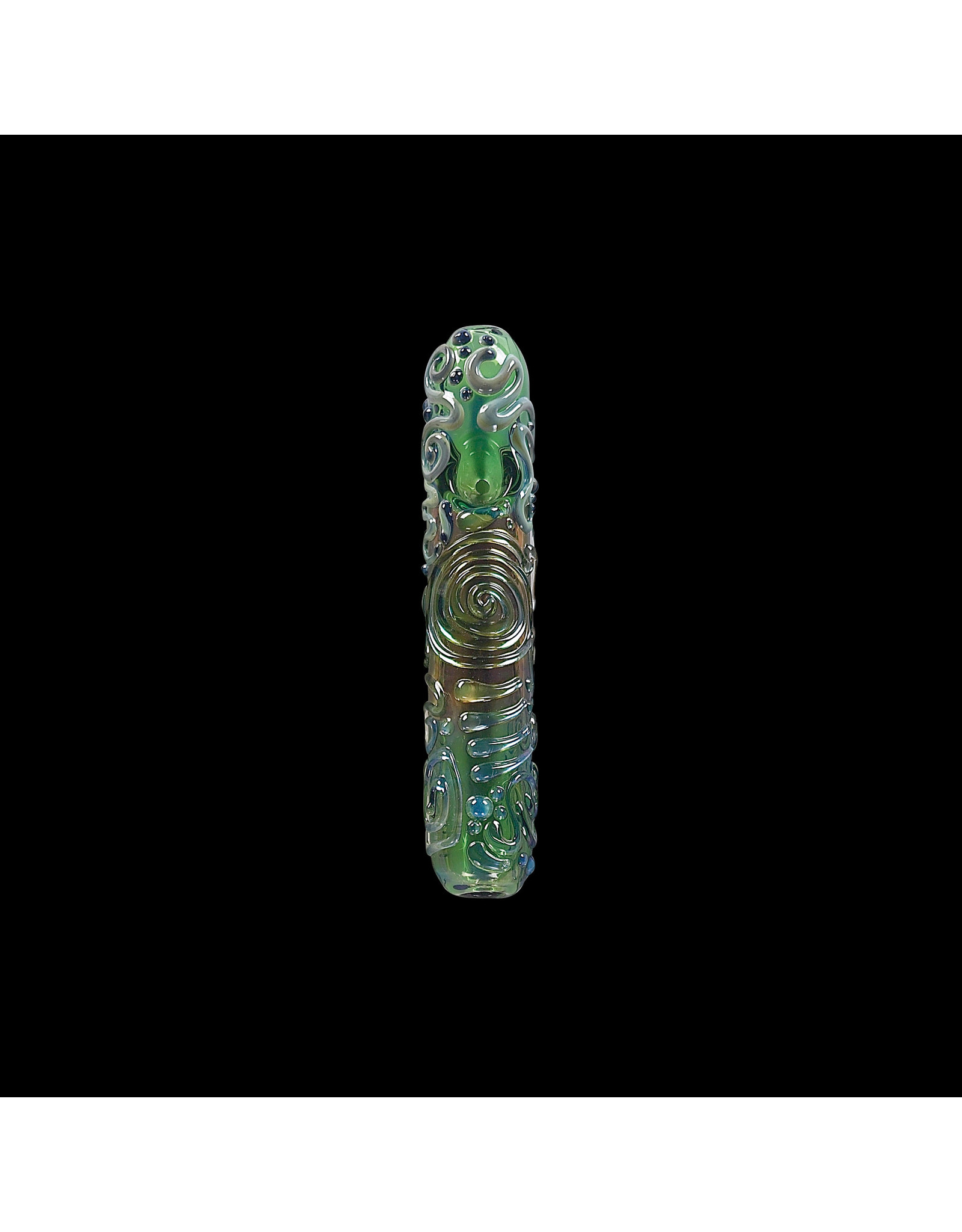Chameleon Glass Kobaya Ashi Maru - Green Pipe
