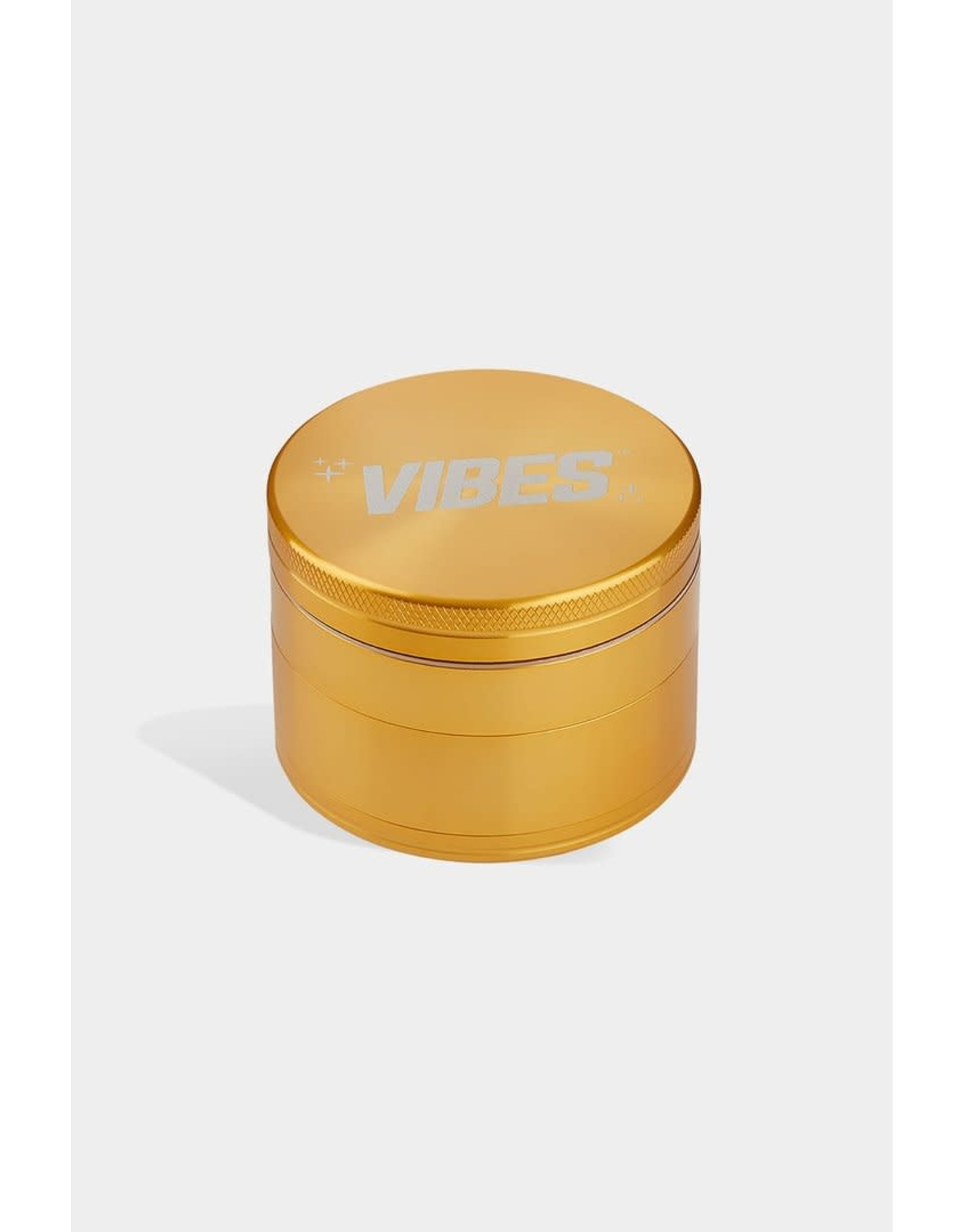 "Vibes Papers Vibes Aluminum 4pc grinder 2.5"" Gold"